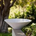 Nepal Weathered Stone Low Bowl Planter 26in. Dia. x 8in. H