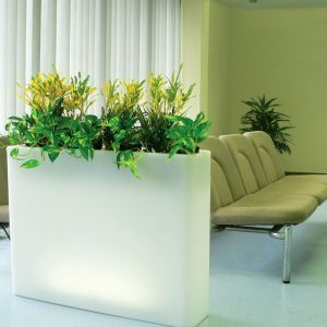"37""L x 10""W x 28""H Vasari Rectangular Illuminated Planter"