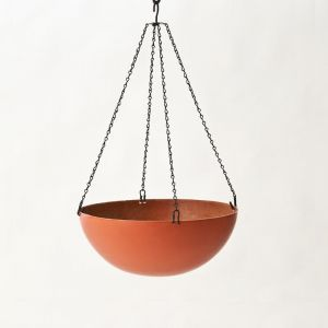 "17"" Fiberglass Hanging Basket - 20 colors to choose from!"