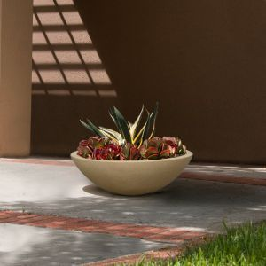 Rocca Low Profile Low Bowl Planter