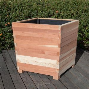 Cruz Square Redwood Planters