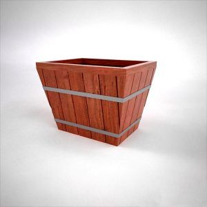 Muir Redwood Industrial Design Planters - Square Design