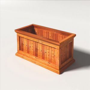 Palo Alto Redwood Outdoor Planters - Rectangle Design
