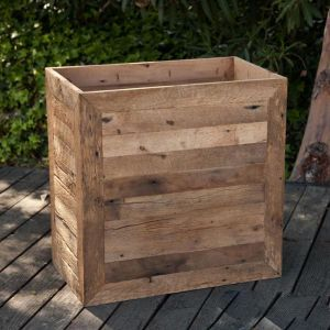 Porter Reclaimed Wooden Planters - Rectangular Design