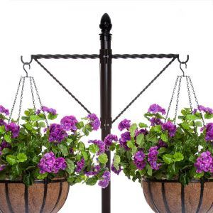 Two-Way Twisted Arm Hanging Basket Bracket