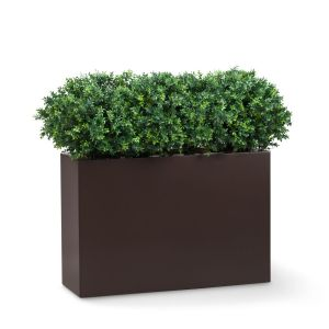 Shrub Dividers in Modern Fiberglass Planter 2-3'H, Outdoor