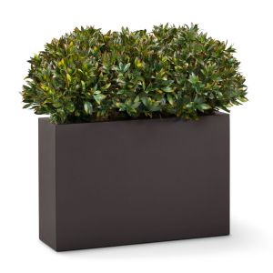 Shrub Dividers in Modern Fiberglass Planter 4-5'H, Outdoor