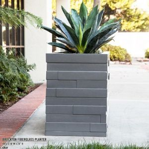 Brockton Square Fiberglass Planter