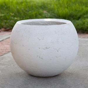 Halley Weathered Stone Sphere Planters