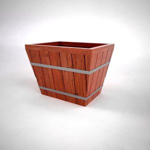 Muir Redwood Industrial Planters - Rectangle Design