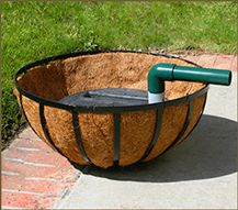 Water Conservation is easy with our PlanterWell Reservoirs