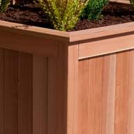 Planters made from redwood and cedar wood