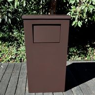 Custom manufactured trash receptacles